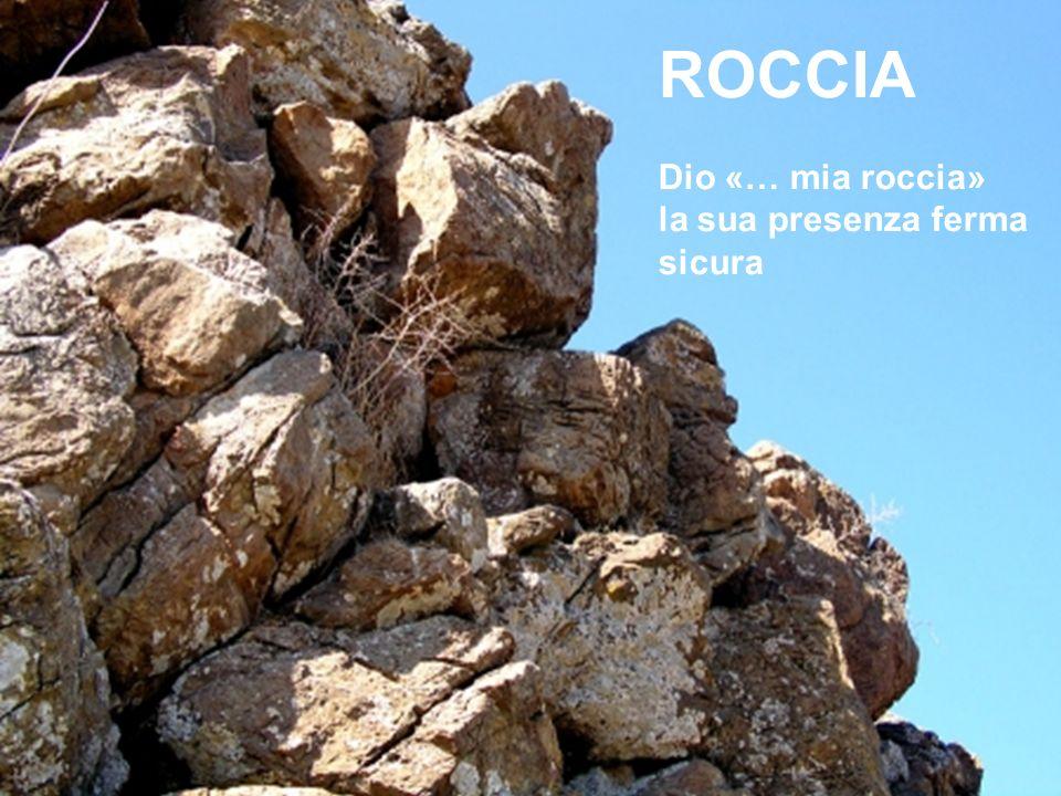 ROCCIA Dio «… mia roccia» la sua presenza ferma sicura
