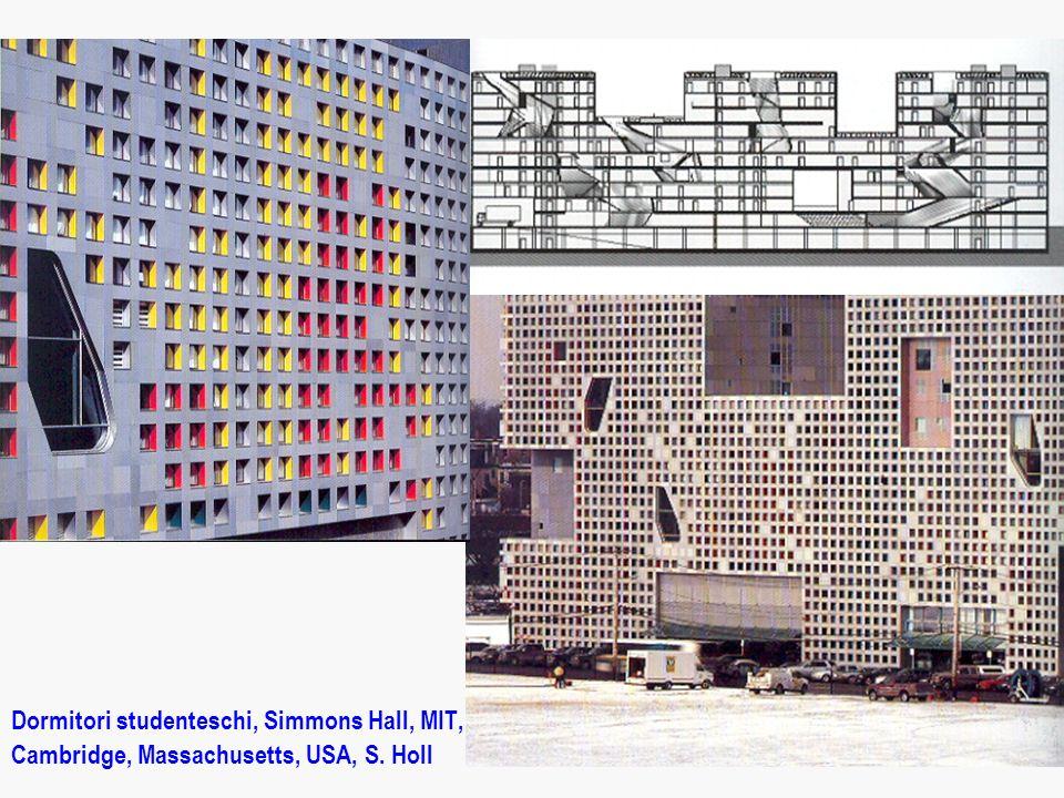 Dormitori studenteschi, Simmons Hall, MIT, Cambridge, Massachusetts, USA, S. Holl