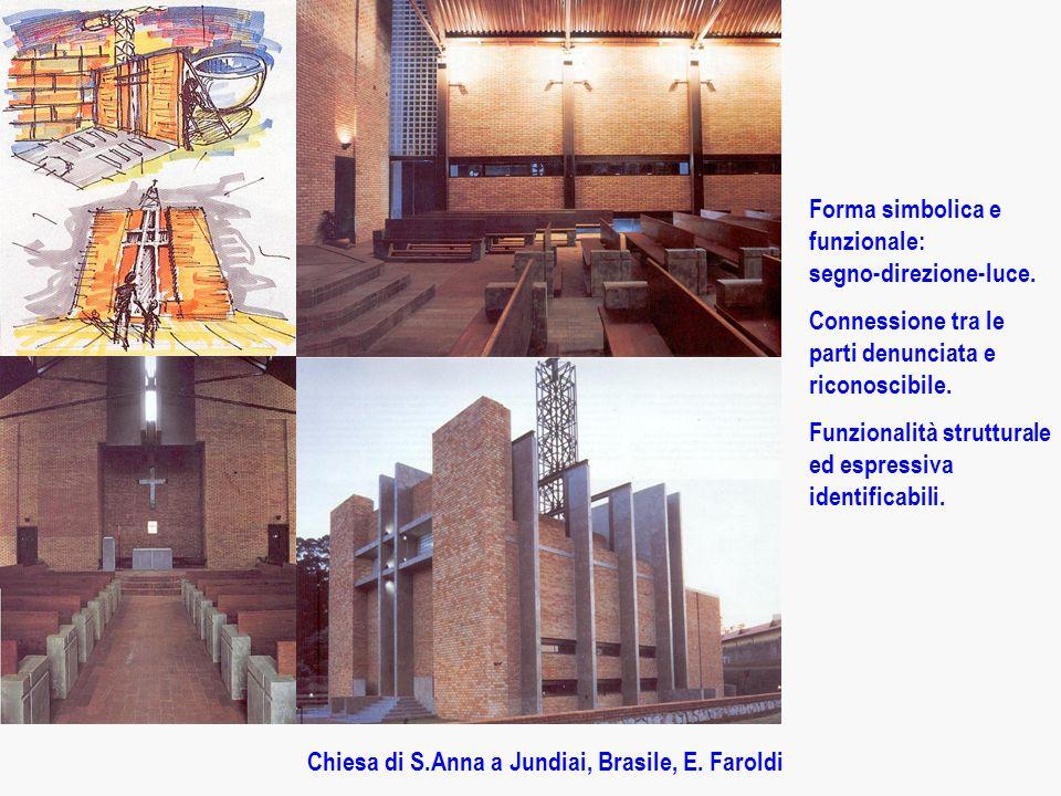 Chiesa di S.Anna a Jundiai, Brasile, E.Faroldi Forma simbolica e funzionale: segno-direzione-luce.