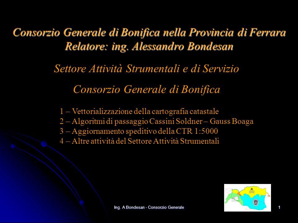 Ing. A Bondesan - Consorzio Generale31 Sito internet per la Carta Geografica Unica