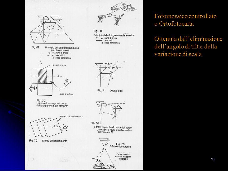 Ing. A Bondesan - Consorzio Generale15 3 - Lortofoto per laggiornamento speditivo della Carta Tecnica Regionale alla scala 1 : 5000 Risoluzione del pi