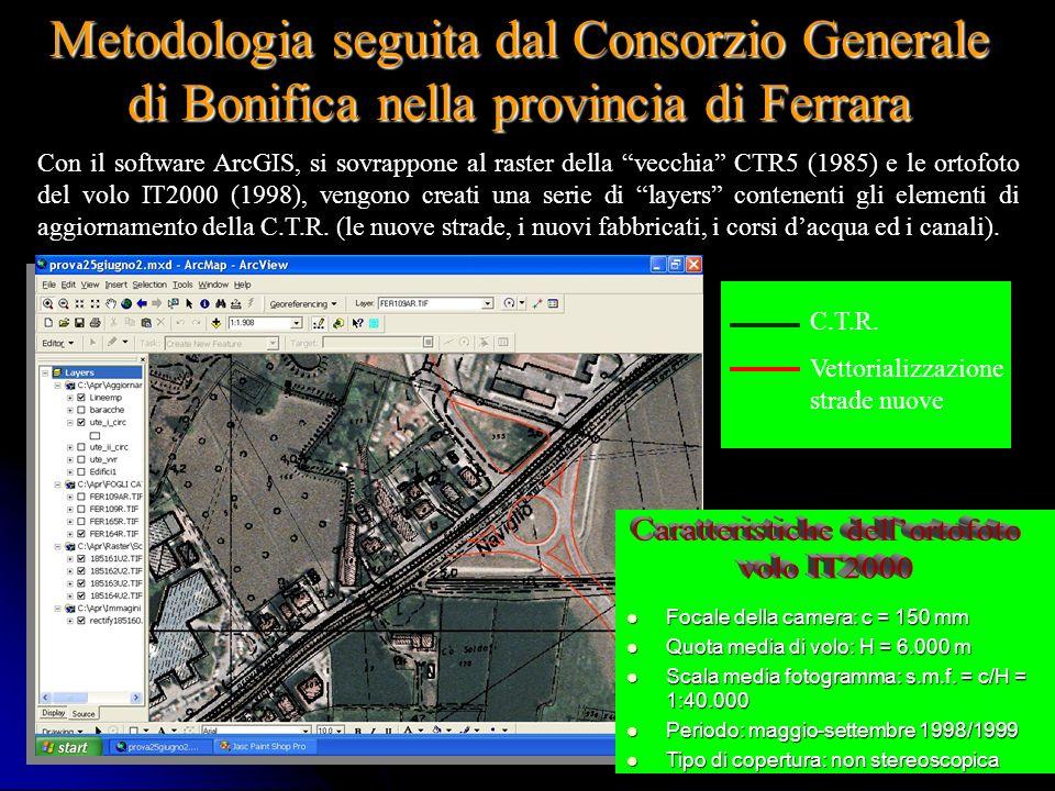 Ing. A Bondesan - Consorzio Generale16 Fotomosaico controllato o Ortofotocarta Ottenuta dalleliminazione dellangolo di tilt e della variazione di scal