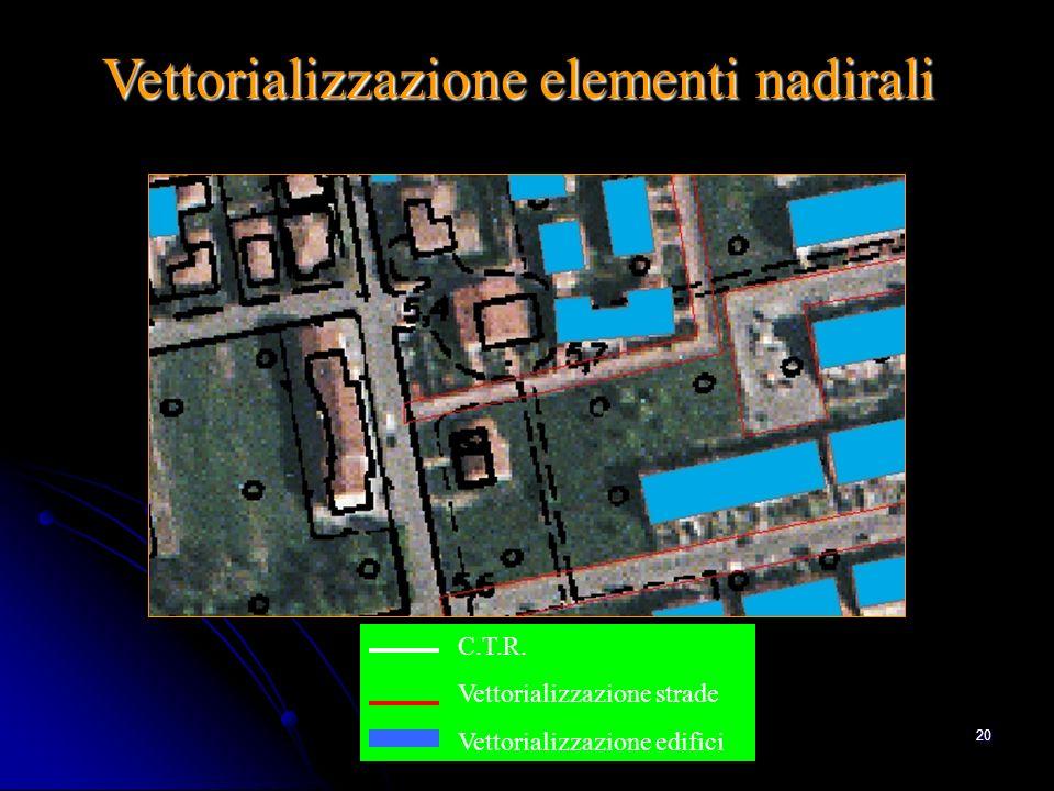 Ing. A Bondesan - Consorzio Generale19 La CTR 1: 5.000 da aggiornare viene sovrapposta alla corrispondente ortofoto, gli aggiornamenti alla CTR vengon