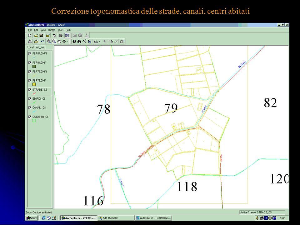 Ing. A Bondesan - Consorzio Generale6 Correzione toponomastica delle strade, canali, centri abitati