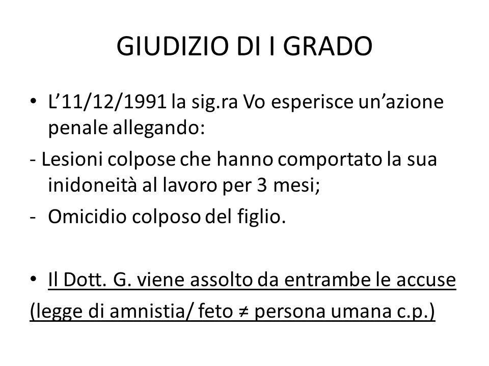 GIUDIZIO DAPPELLO Il 10/06/1996 la Sig.ra Vo: appella la sentenza del Tribunale di I grado di Lione.