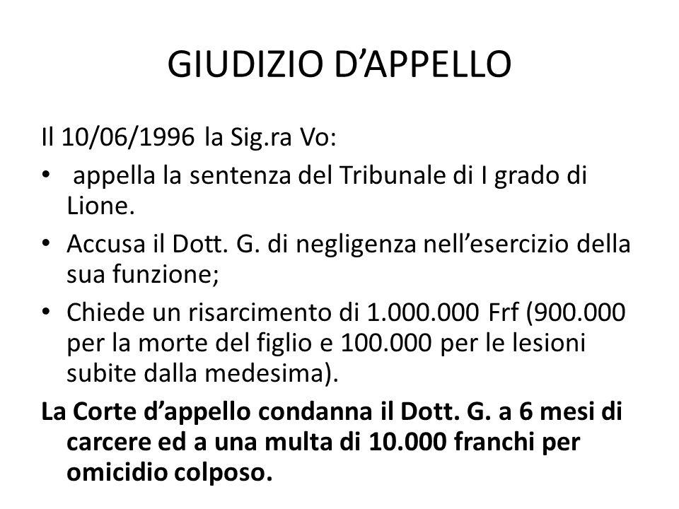 CORTE DI CASSAZIONE Il Dott.G.