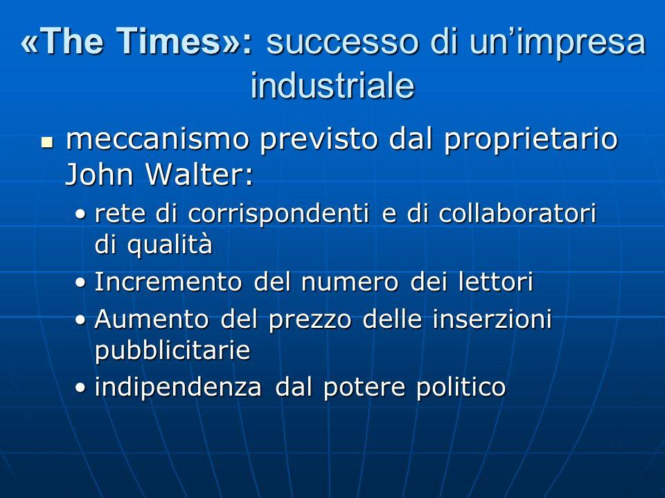 «The Times»: successo di unimpresa industriale meccanismo previsto dal proprietario John Walter: meccanismo previsto dal proprietario John Walter: ret