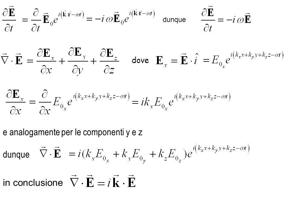 dunque in conclusione dove e analogamente per le componenti y e z dunque