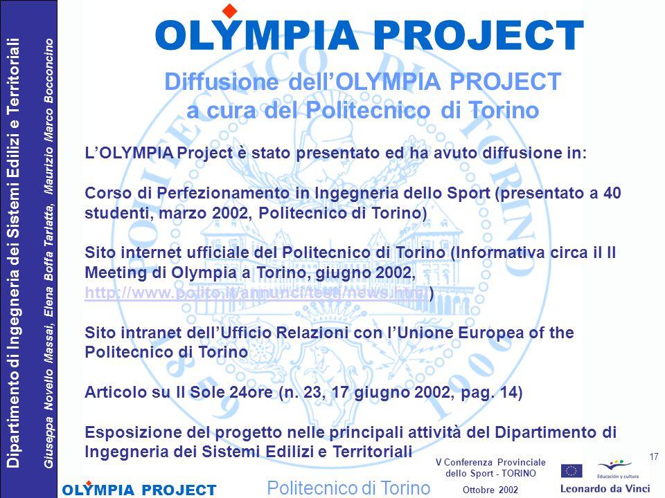Politecnico di Torino Dipartimento di Ingegneria dei Sistemi Edilizi e Territoriali Giuseppa Novello Massai, Elena Boffa Tarlatta, Maurizio Marco Bocc
