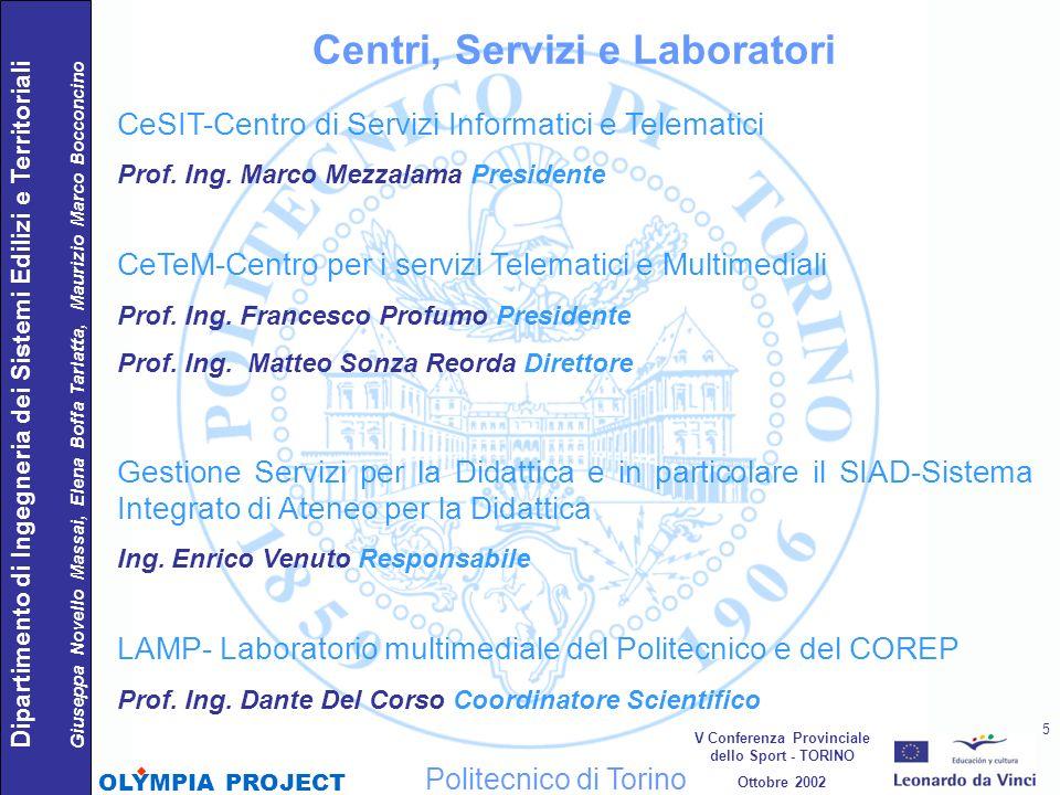 CeSIT-Centro di Servizi Informatici e Telematici Prof. Ing. Marco Mezzalama Presidente CeTeM-Centro per i servizi Telematici e Multimediali Prof. Ing.