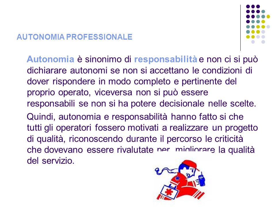 Autonomia è sinonimo di responsabilità e non ci si può dichiarare autonomi se non si accettano le condizioni di dover rispondere in modo completo e pe
