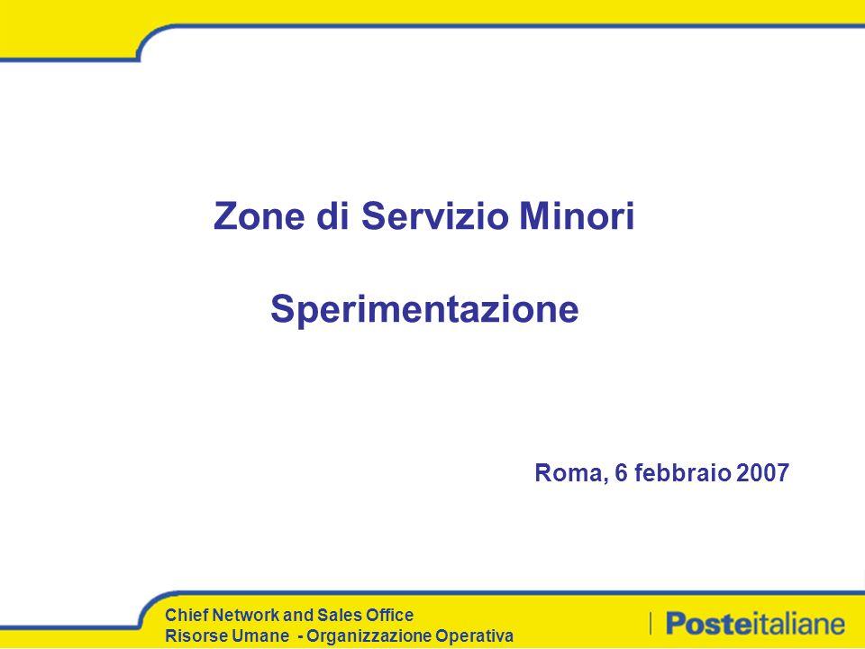 Chief Network and Sales Office Risorse Umane - Organizzazione Operativa Contenuti del documento 1.