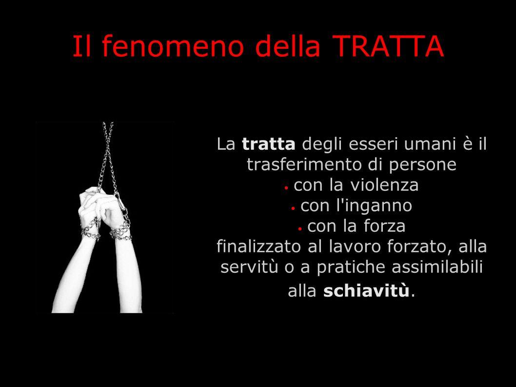 Il fenomeno della TRATTA La tratta degli esseri umani è il trasferimento di persone con la violenza con l'inganno con la forza finalizzato al lavoro f