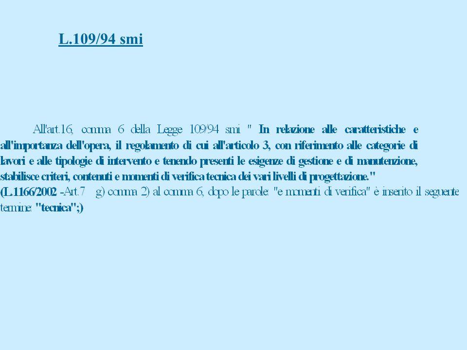 Regione Lombardia ( progetto di legge n. 448 ) a) il RuP effettua verifiche progressive secondo andamento progetto b)verifica PP, validazione del prog
