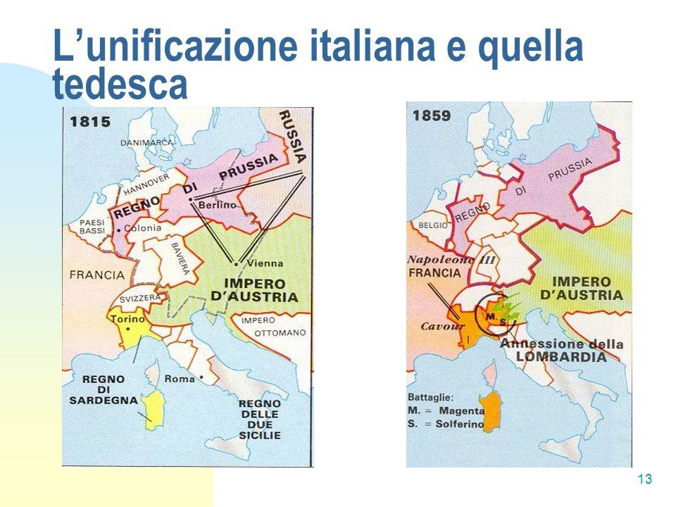 13 Lunificazione italiana e quella tedesca