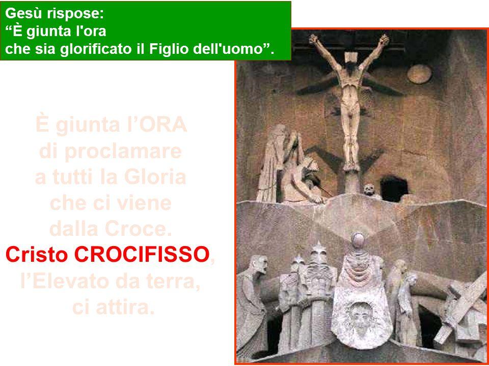 Gv 12, 20-30 Tra quelli che erano saliti per il culto durante la festa, c'erano anche alcuni Greci. Questi si avvicinarono a Filippo, che era di Betsa