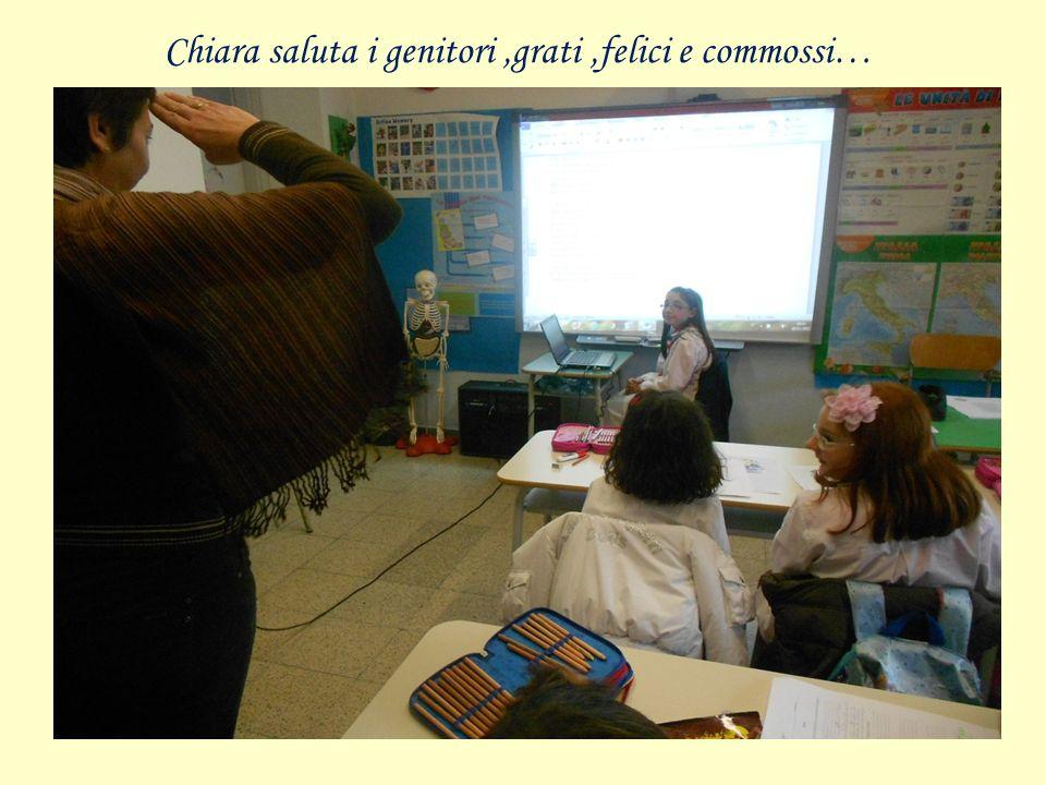 Chiara saluta i genitori,grati,felici e commossi…