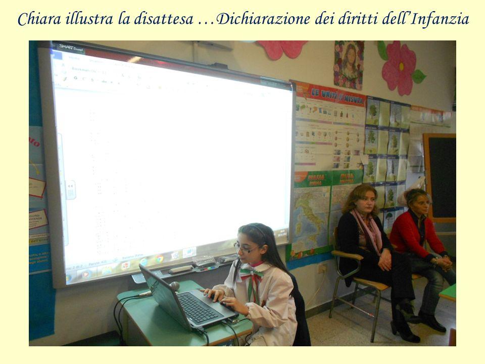 Chiara illustra la disattesa …Dichiarazione dei diritti dellInfanzia