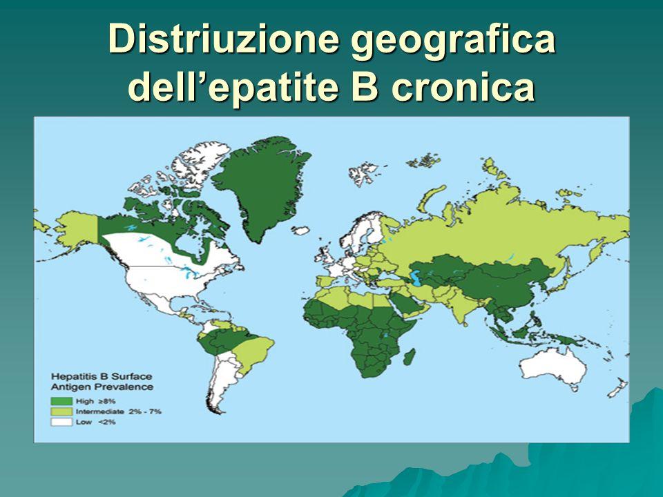 Distriuzione geografica dellepatite B cronica