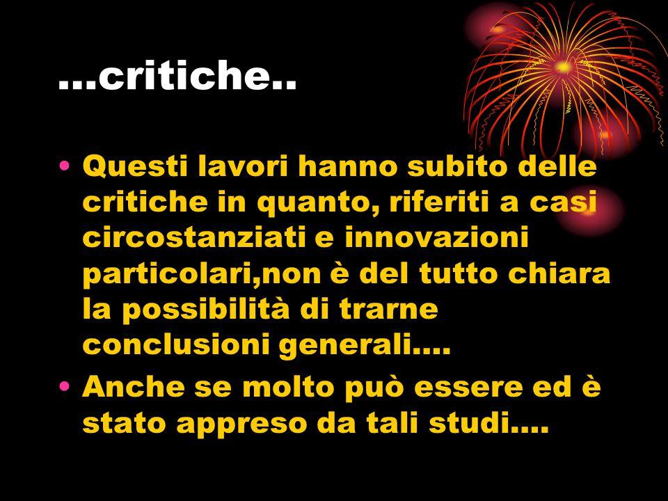 …critiche..