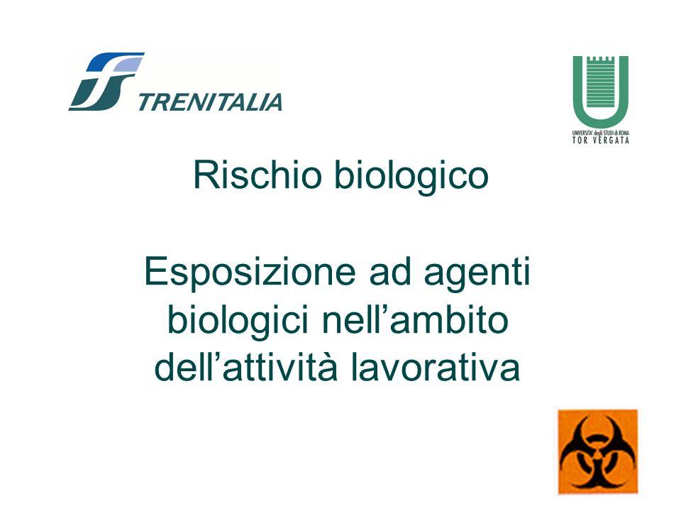 12 Settori lavorativi con uso deliberato di agenti biologici.