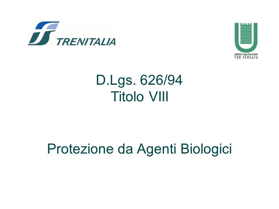 3 Campo di applicazione Tutte le attività lavorative nelle quali nelle quali vi è rischio di esposizione ad agenti biologici.