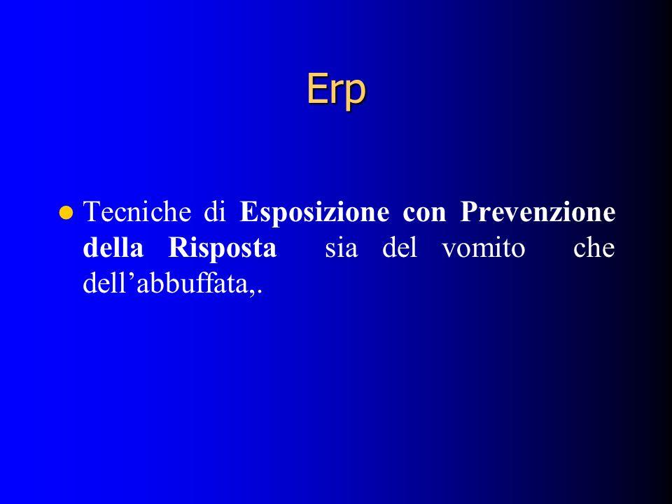 Erp Tecniche di Esposizione con Prevenzione della Risposta sia del vomito che dellabbuffata,.
