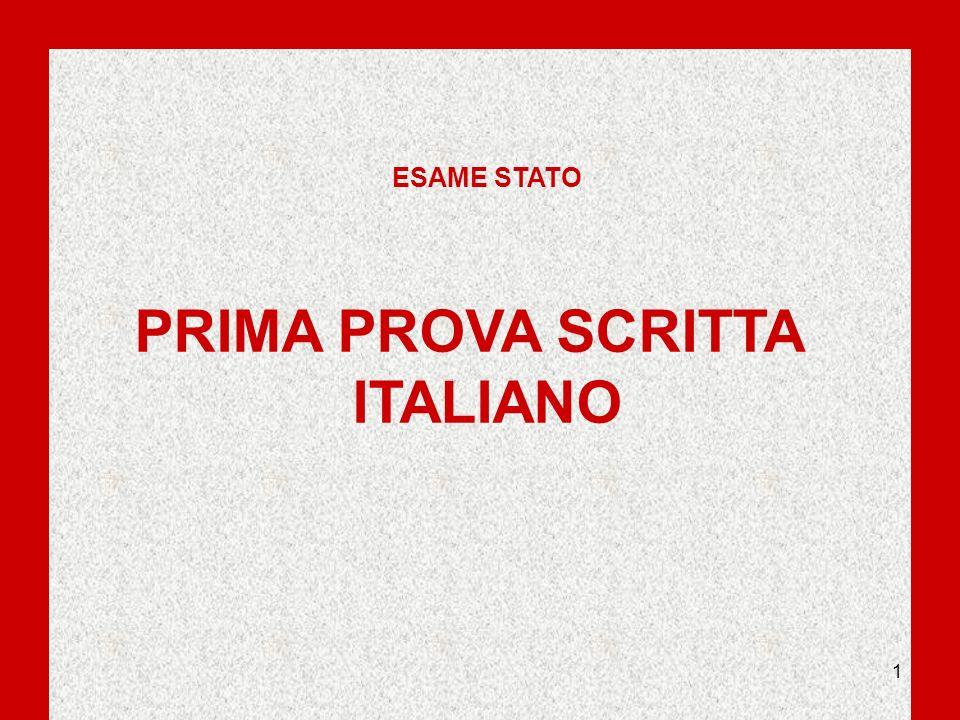 1 ESAME STATO PRIMA PROVA SCRITTA ITALIANO