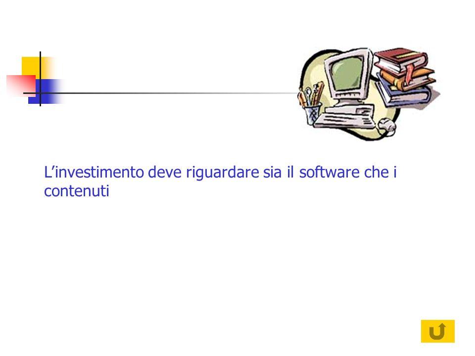 Linvestimento deve riguardare sia il software che i contenuti