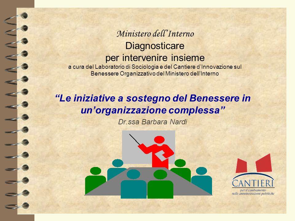 Ministero dellInterno Diagnosticare per intervenire insieme a cura del Laboratorio di Sociologia e del Cantiere dInnovazione sul Benessere Organizzati