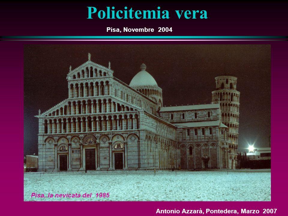 Pisa, Novembre 2004 Pisa, la nevicata del 1985 Policitemia vera Antonio Azzarà, Pontedera, Marzo 2007