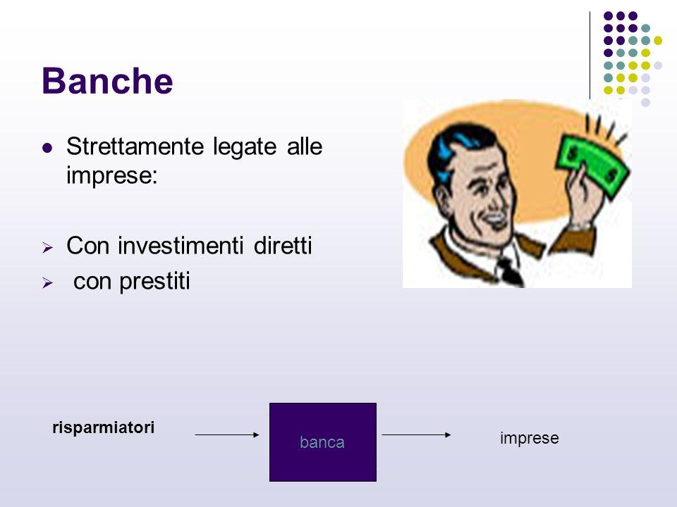 carmen de simone Banche Strettamente legate alle imprese: Con investimenti diretti con prestiti risparmiatori banca imprese