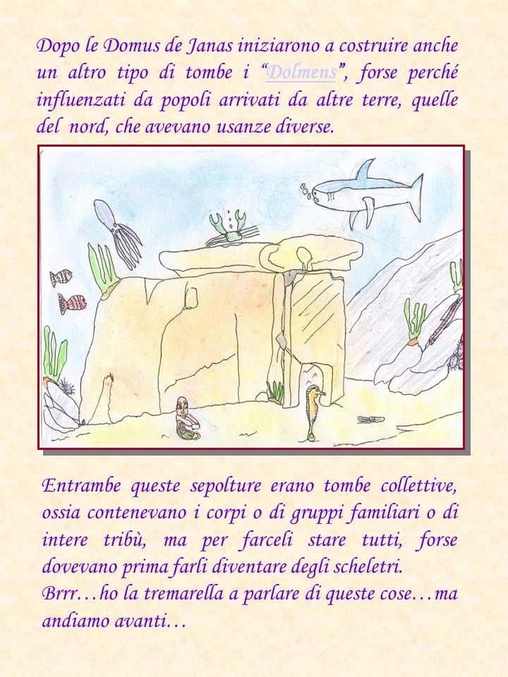 Dopo le Domus de Janas iniziarono a costruire anche un altro tipo di tombe i Dolmens, forse perché influenzati da popoli arrivati da altre terre, quel