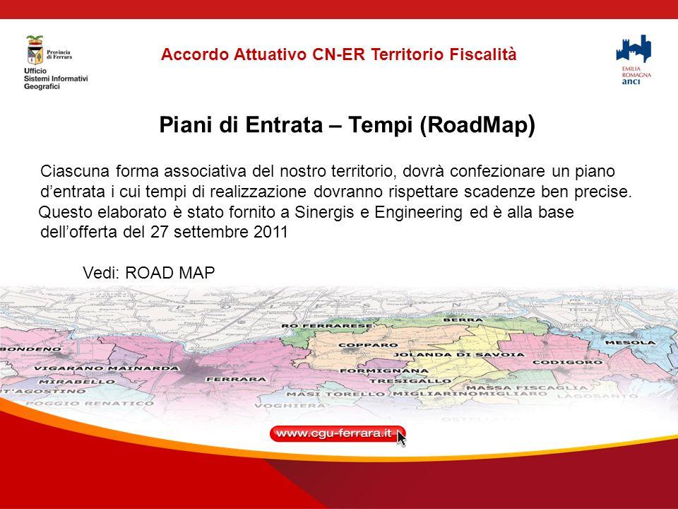 Piani di Entrata – Tempi (RoadMap ) Ciascuna forma associativa del nostro territorio, dovrà confezionare un piano dentrata i cui tempi di realizzazione dovranno rispettare scadenze ben precise.