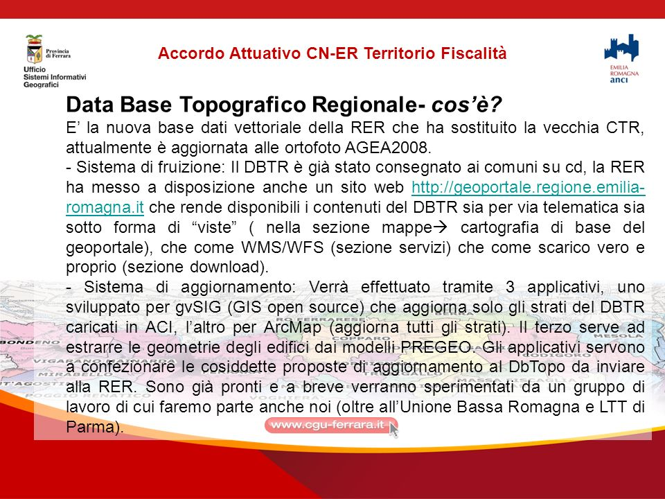 Data Base Topografico Regionale- cosè.
