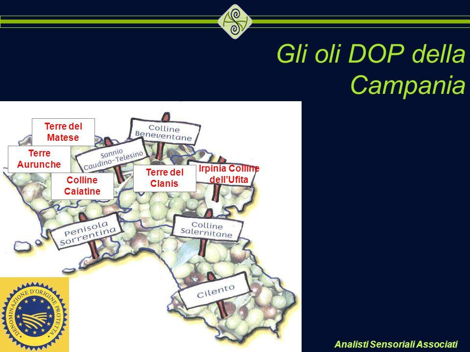Gli oli DOP della Campania Irpinia Colline dellUfita Terre del Clanis Terre del Matese Terre Aurunche Colline Caiatine