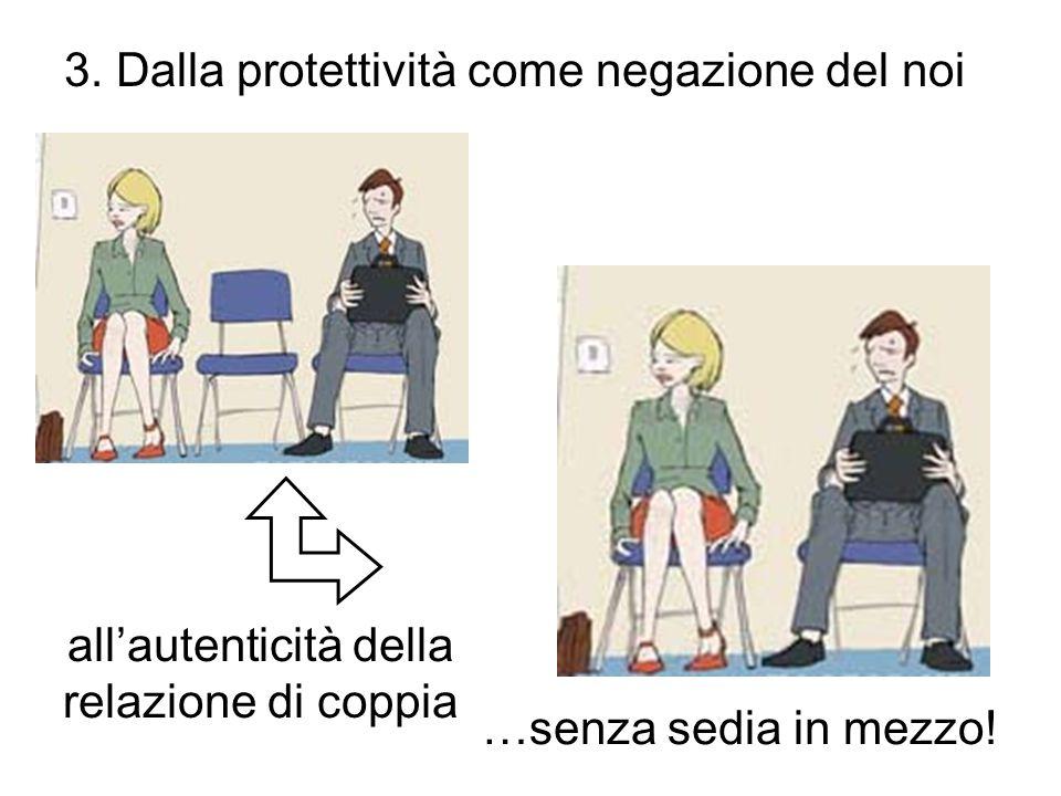 3. Dalla protettività come negazione del noi allautenticità della relazione di coppia …senza sedia in mezzo!