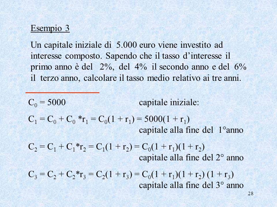 27 se gli n dati numerici positivi sono tali che: il dato x 1 compare f 1 volte, x 2 f 2 volte,…. x k f k volte, la Media Geometrica è data da: