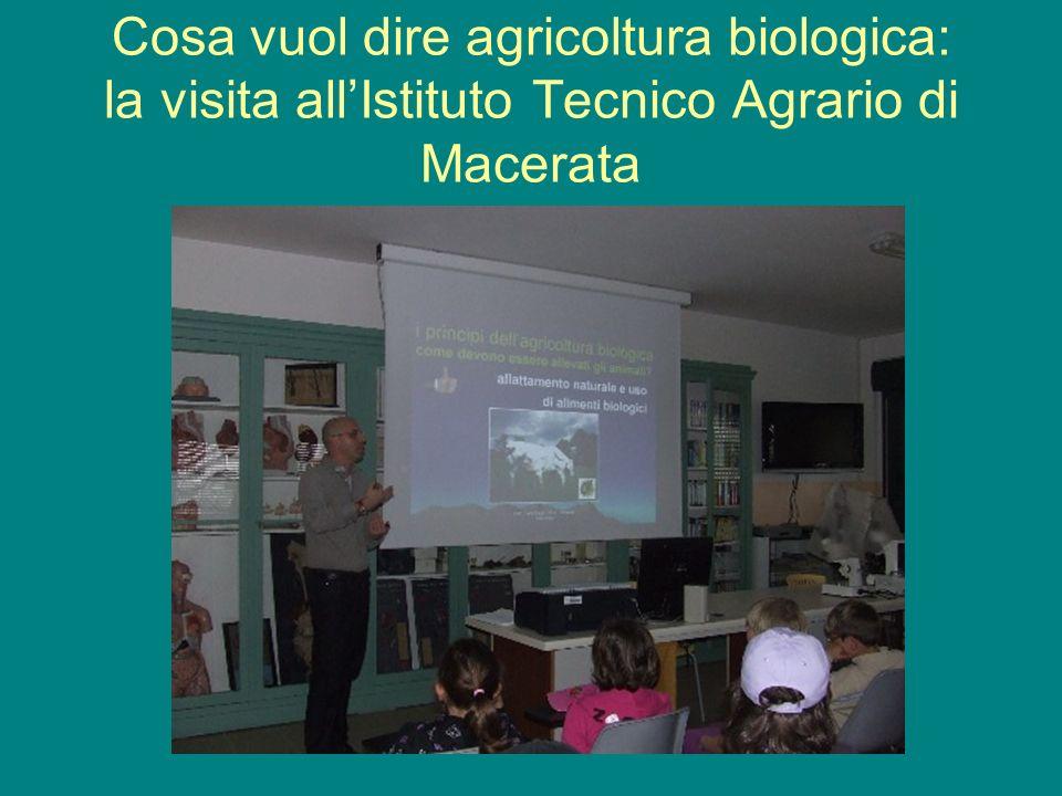 Cosa vuol dire agricoltura biologica: la visita allIstituto Tecnico Agrario di Macerata