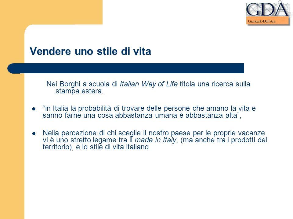 Vendere uno stile di vita Nei Borghi a scuola di Italian Way of Life titola una ricerca sulla stampa estera. in Italia la probabilità di trovare delle