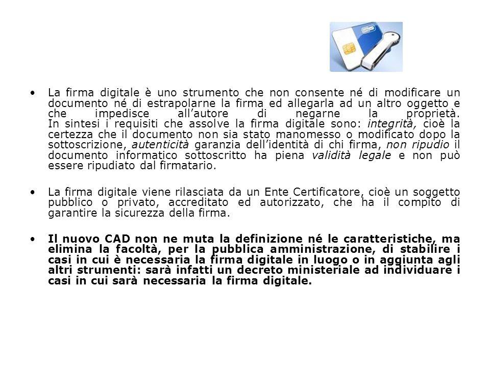 Il documento informatico Il Codice della Amministrazione Digitale (D.Lgs 7 marzo 2005, n.82) definisce documento informatico la rappresentazione informatica di atti, fatti o dati giuridicamente rilevanti.
