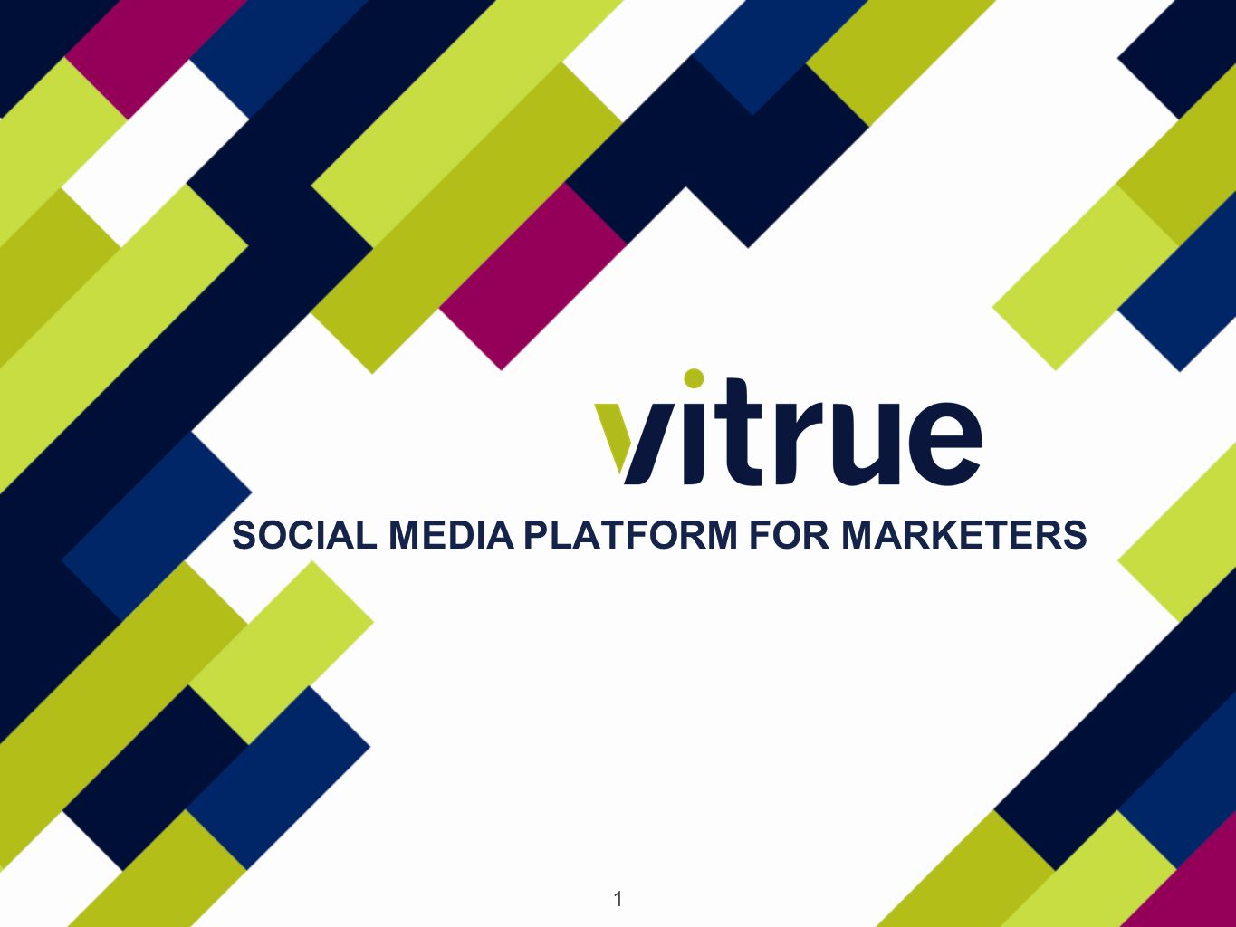 1 SOCIAL MEDIA PLATFORM FOR MARKETERS