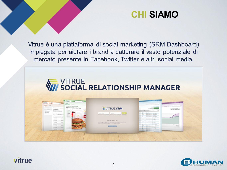 2 Vitrue è una piattaforma di social marketing (SRM Dashboard) impiegata per aiutare i brand a catturare il vasto potenziale di mercato presente in Fa