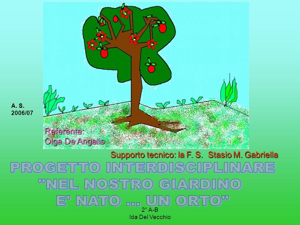 2° A-B Ida Del Vecchio A. S. 2006/07 Supporto tecnico: la F. S. Stasio M. Gabriella Supporto tecnico: la F. S. Stasio M. Gabriella Referente: Olga De