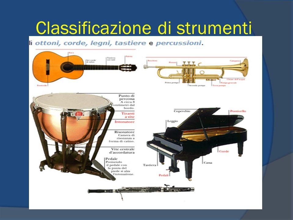 Classificazione di strumenti