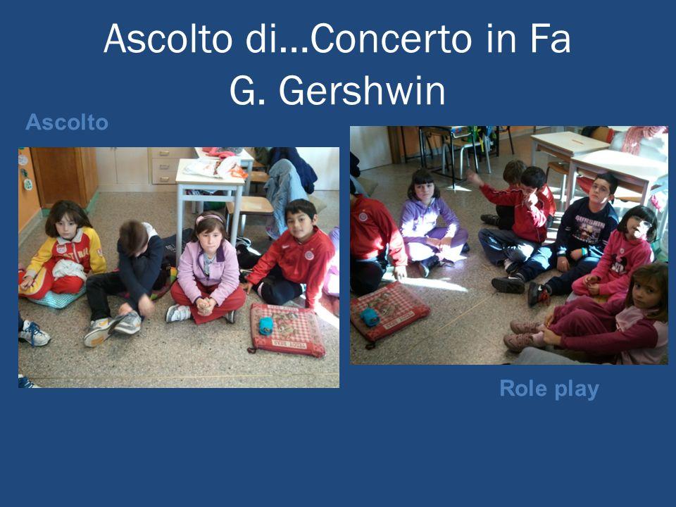 Ascolto di…Concerto in Fa G. Gershwin Role play Ascolto