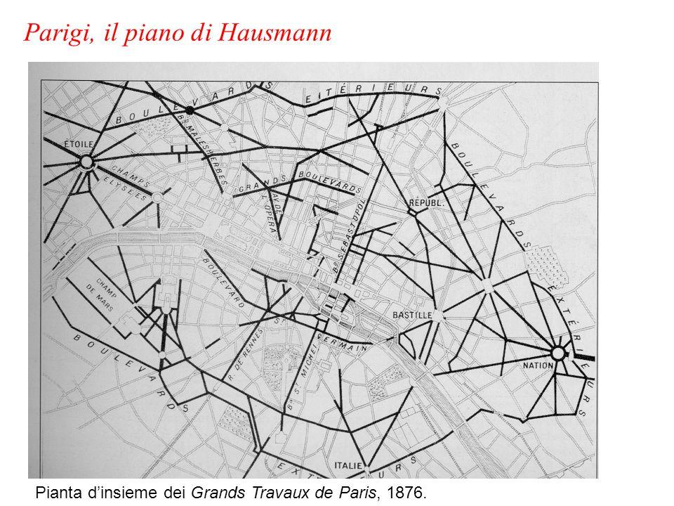 Pianta dinsieme dei Grands Travaux de Paris, 1876. Parigi, il piano di Hausmann