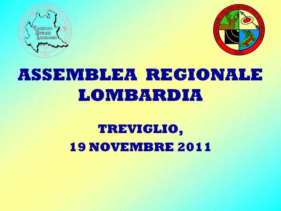 ASSEMBLEA REGIONALE LOMBARDIA TREVIGLIO, 19 NOVEMBRE 2011