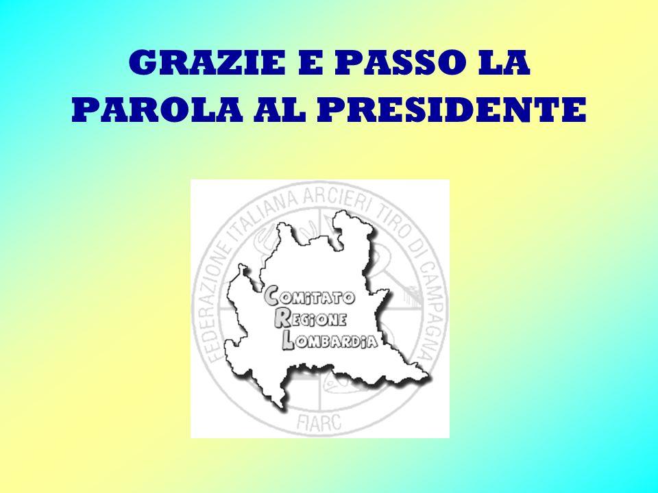 GRAZIE E PASSO LA PAROLA AL PRESIDENTE