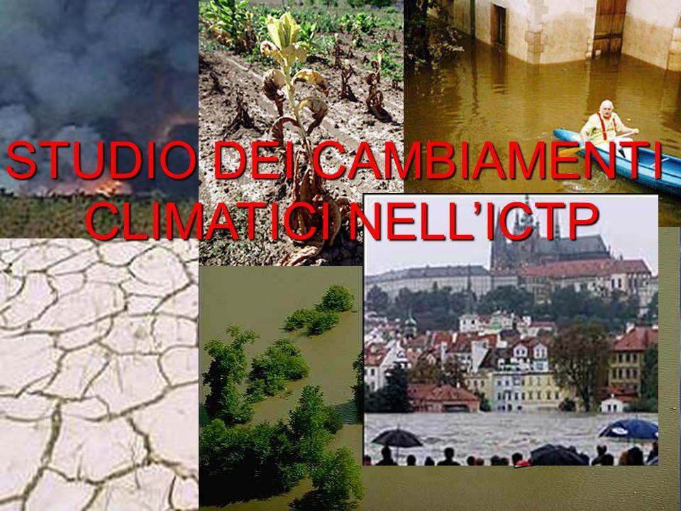STUDIO DEI CAMBIAMENTI CLIMATICI NELLICTP